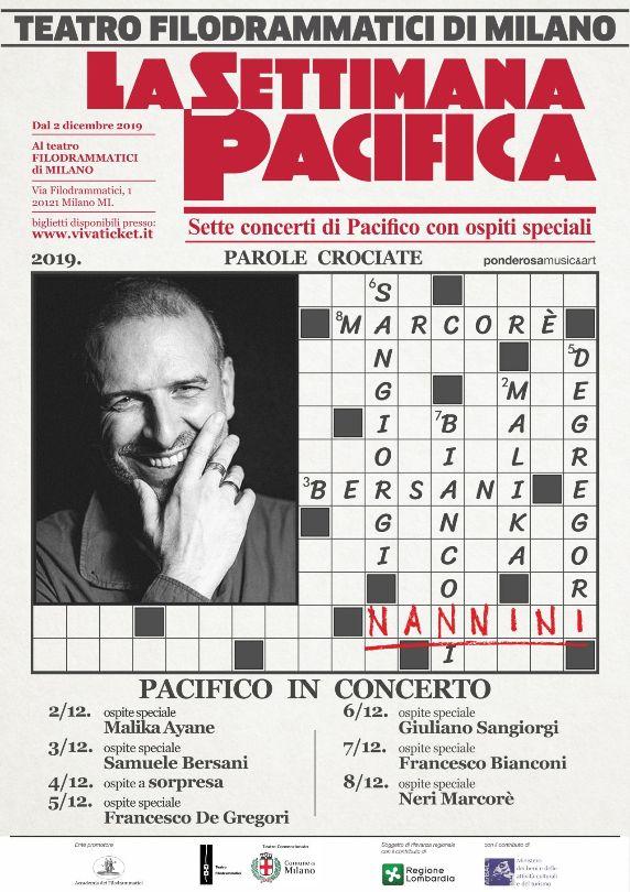 """Musica Italiana, Concerti. """"LA SETTIMANA PACIFICA"""": è Gianna Nannini l'ospite speciale di questa sera in duetto con Pacifico"""