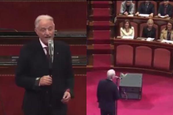 """Musica Italiana, TV. Amedeo Minghi canta """"Vattene Amore"""" al Senato: ancora una volta è un successo! (VIDEO)"""