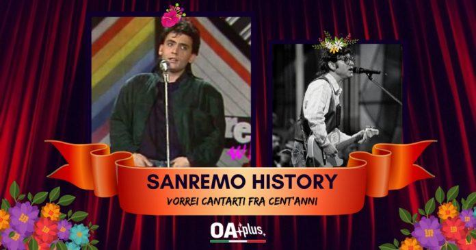 SANREMO HISTORY. Mango, Ivan Graziani. VORREI CANTARTI FRA CENT'ANNI