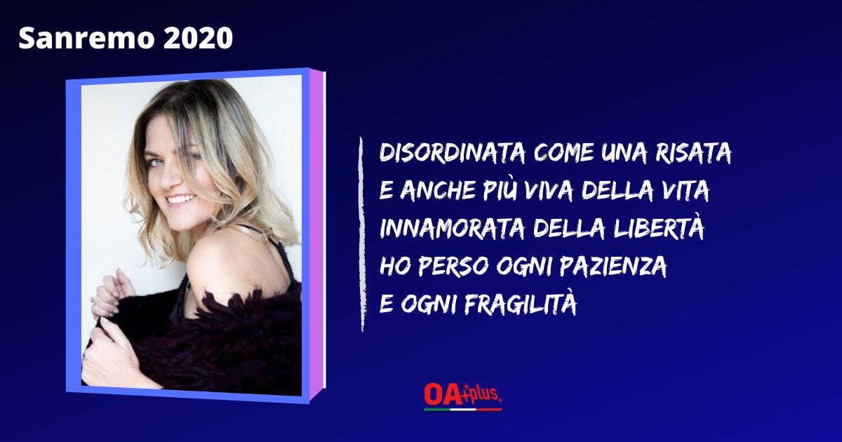 """TV, Sanremo 2020. """"Finalmente io"""": testo della canzone di Irene Grandi. Fra gli autori Vasco Rossi"""