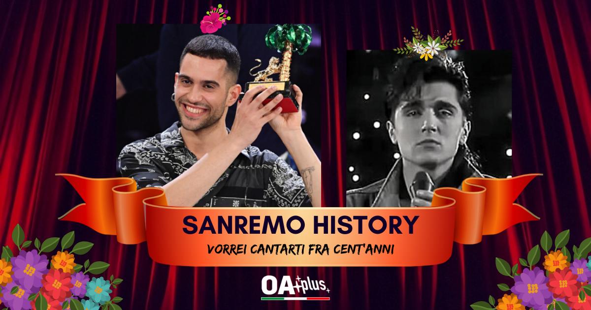"""Sanremo History. Vorrei cantarti fra cent'anni: Mahmood con """"Soldi"""" trionfa contro Scialpi e accede ai 16mi"""