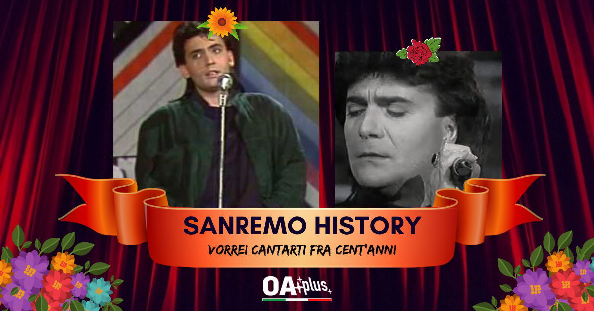 """Sanremo History. Vorrei cantarti fra cent'anni: Mango con """"Lei verrà"""" batte Renato Zero e si qualifica per gli ottavi di finale"""