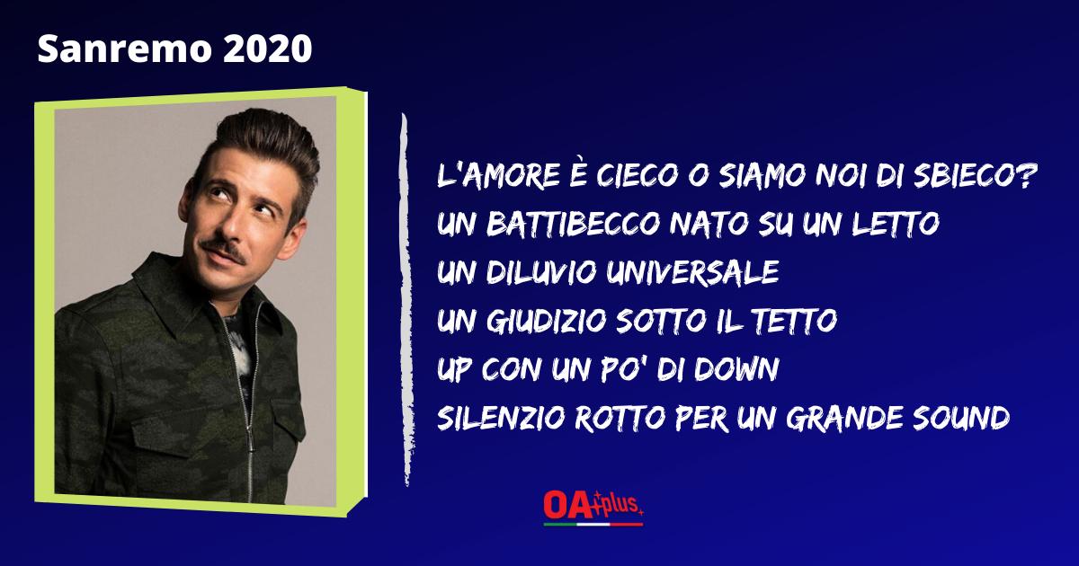 """TV, Sanremo 2020. """"Viceversa"""": testo e autori della canzone di Francesco Gabbani"""