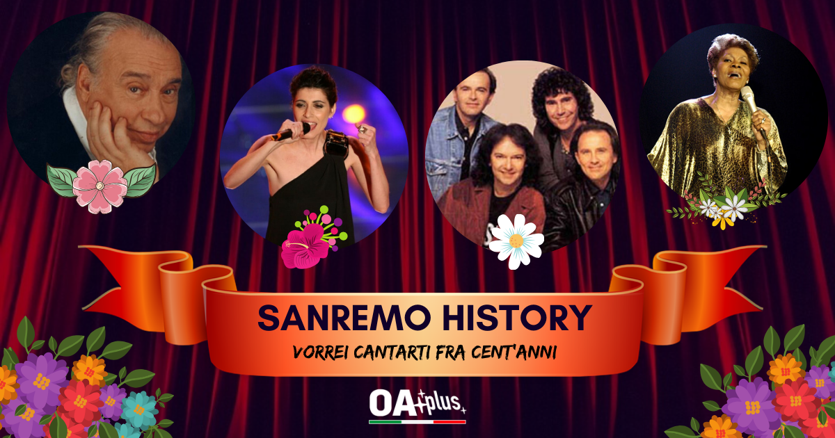 """Sanremo History. """"Vorrei cantarti fra cent'anni"""", le prime 2 sfide: Umberto Bindi & New Trolls VS Pooh, Giorgia VS Dionne Warwick"""