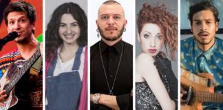 Sanremo 2020 Nuove Proposte - Eugenio in via di gioia, Tecla Insolia, Fadi, Marco Sentieri, Gabriella Martinelli.
