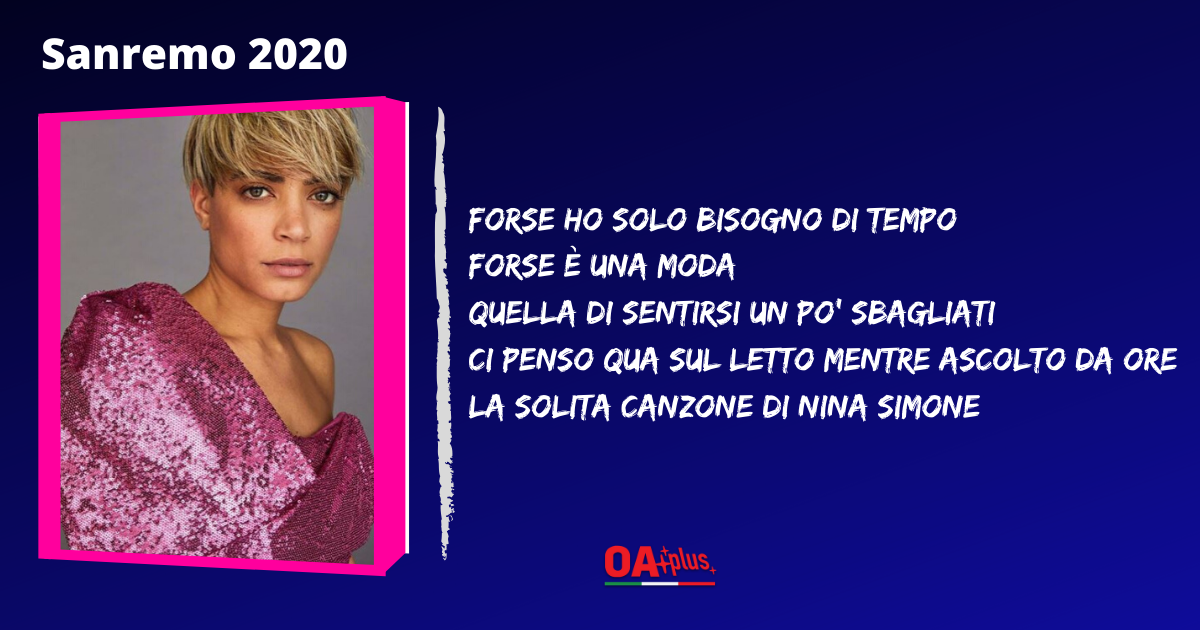 """TV, Sanremo 2020. Elodie: testo della canzone """"Andromeda"""". Autori Mahmood e Dardust"""
