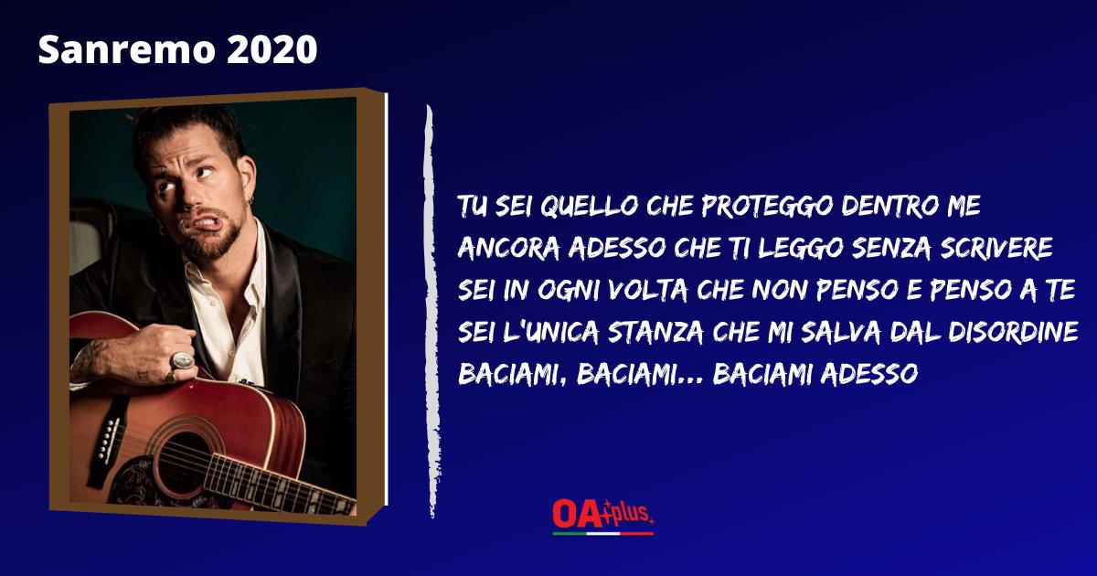 """TV, Sanremo 2020. Enrico Nigiotti: testo e autori della canzone """"Baciami adesso"""""""