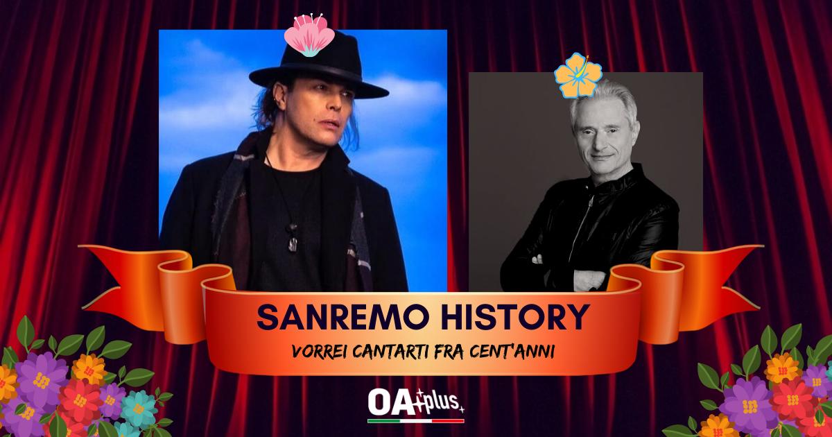 """Sanremo History. Vorrei cantarti fra cent'anni: Gianluca Grignani travolge Amedeo Minghi. Semifinale per """"Destinazione Paradiso"""""""