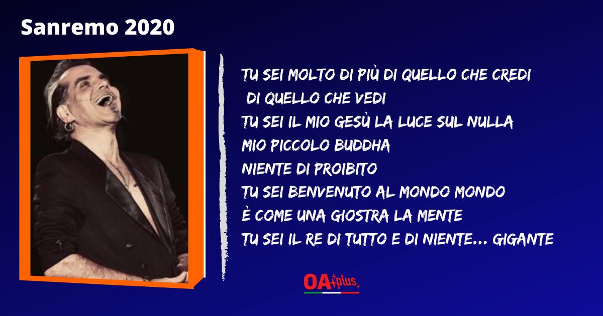 """TV, Sanremo 2020. Piero Pelù: testo e autori della canzone """"Gigante"""""""