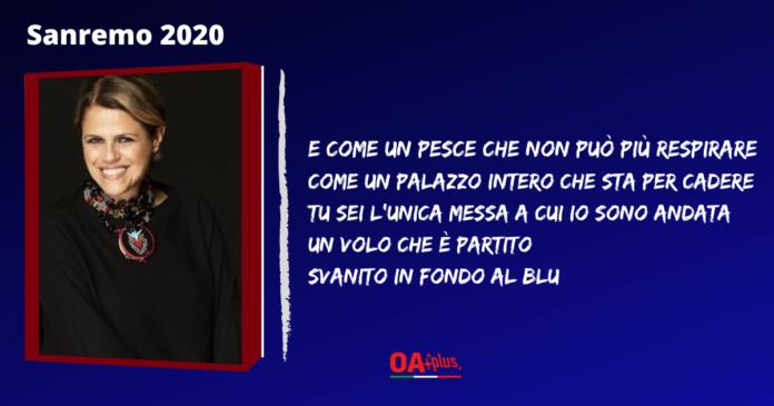 Tosca, Sanremo 2020: ecco il testo e l'autore della canzone
