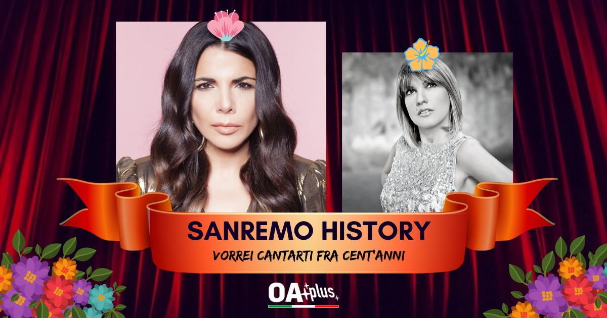 """Sanremo History. Vorrei cantarti fra cent'anni: Mietta con """"Fare l'amore"""" batte Lisa e approda in semifinale"""