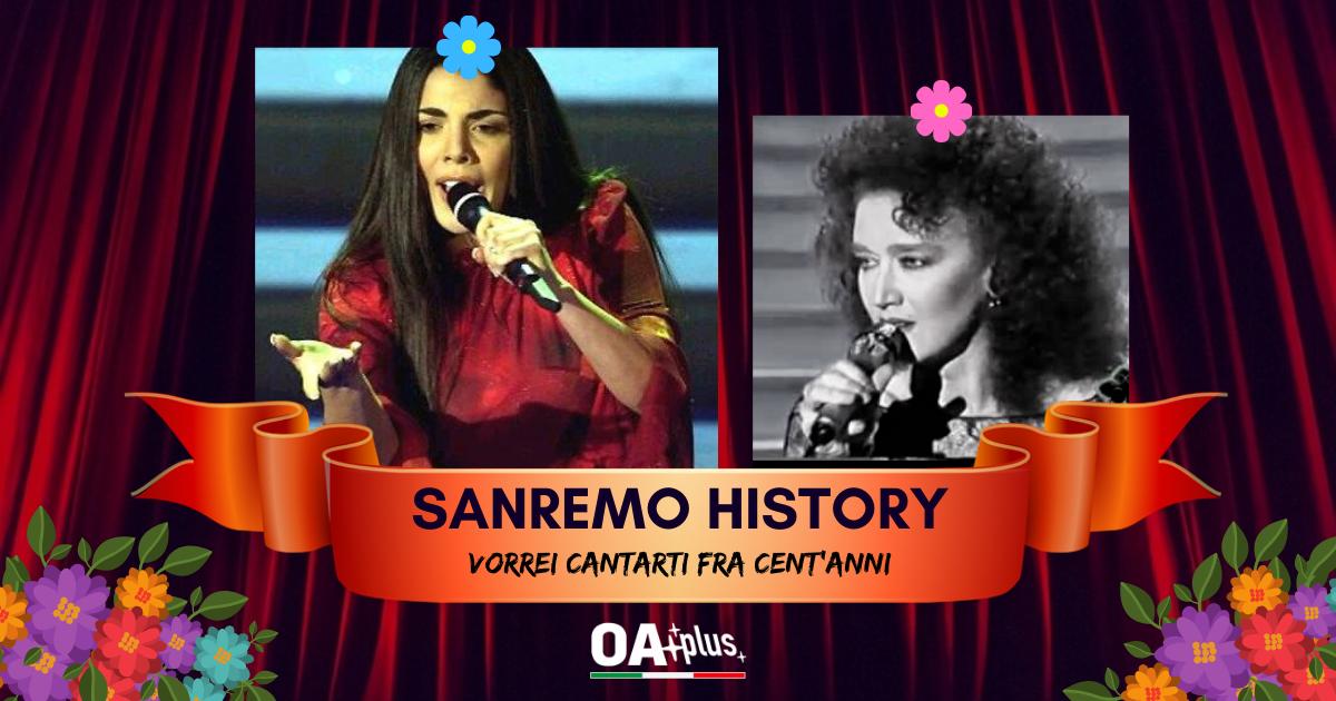 Sanremo History. Vorrei cantarti fra cent'anni: Mietta riesce a battere Fiorella Mannoia e va ai quarti