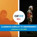 Classifica Indipendenti Airplay TV EarOne, settimana 12 del 2020: Bugo & Morgan avanzano e Diodato sempre al vertice