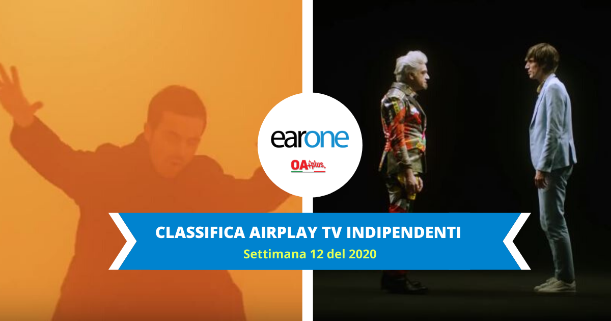 Classifica Indipendenti Airplay TV EarOne, settimana 12 del 2020: Bugo & Morgan avanzano e Diodato sempre al vertice
