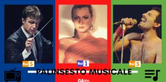 Palinsesto Musicale. Freddie Mercury, Loretta Goggi, Sergej Rachmaninov, Roberto Abbado