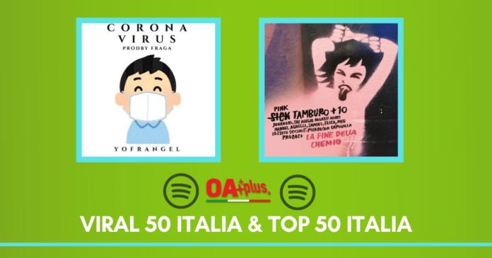 Spotify Viral e Top 50 italia: classifiche con Corona viruus e La fine della chemio dei Sick Tambiuro