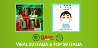 Spotify, TOP 50 e Viral 50: classifiche aggiornate, - c'è l'inno d'italia