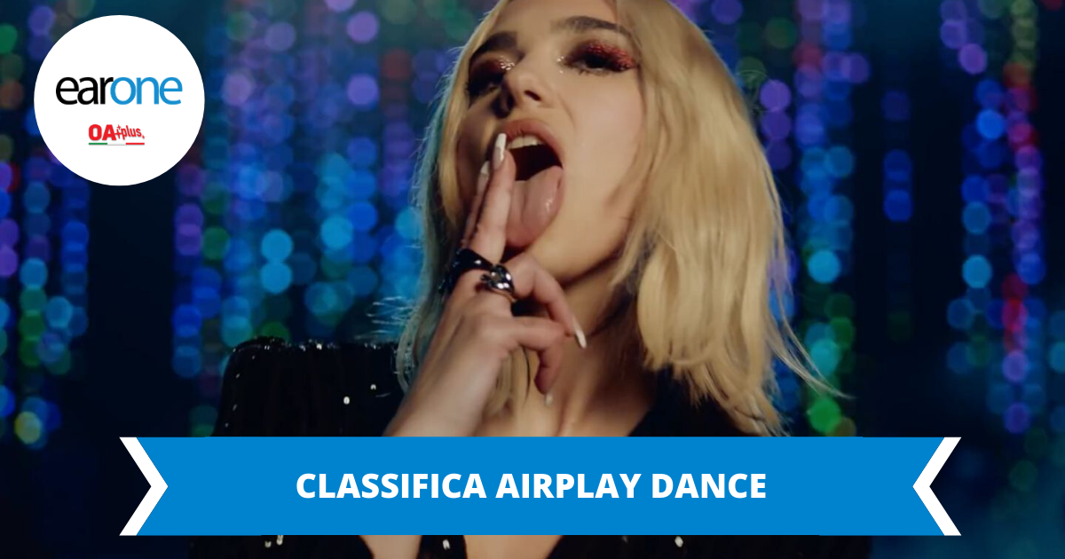 "Classifica dance EarOne: Dua Lipa si conferma regina della chart con ""Physical"""