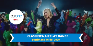 earone airplay dance settimana 16 2020: dua lipa alla 1 con Physical