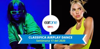 Airplay radio dance classifica: Dua Lipa alla 1, Billie Eilish entra alla 3