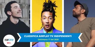 Classifica invariata: Top 10 airplay tv indipendenti settimana 17 2020 earone