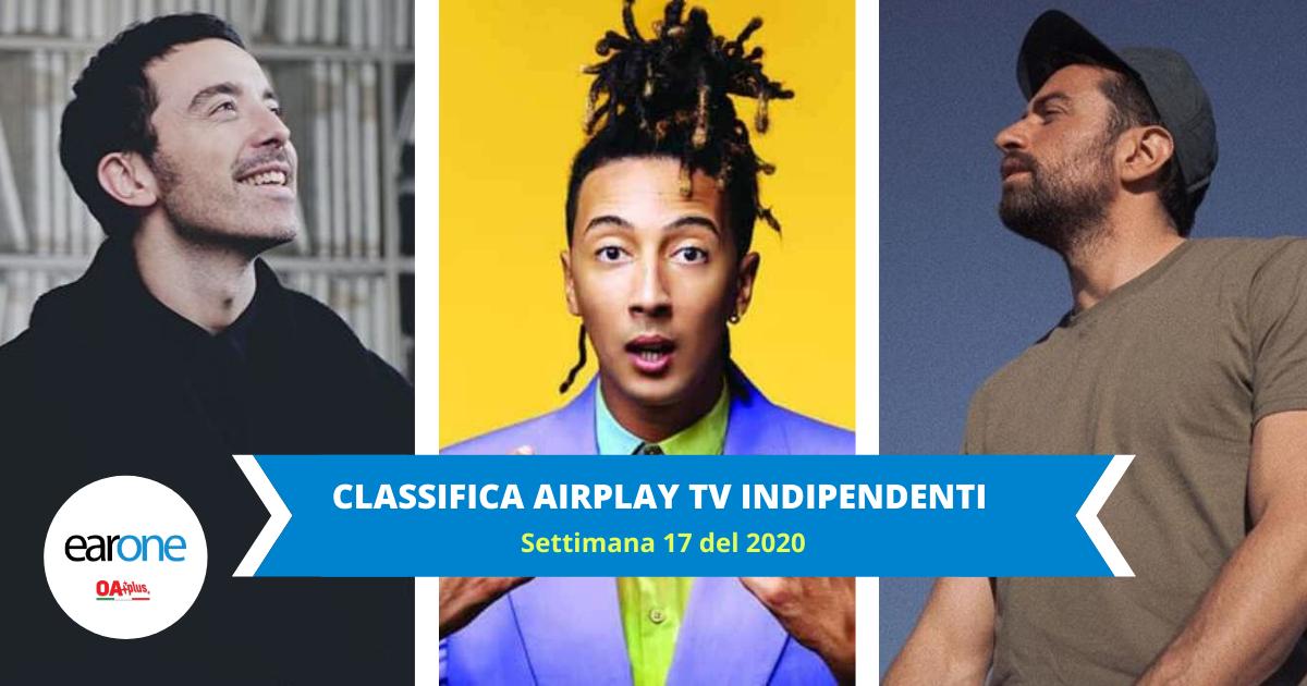 Classifica TV Airplay Indipendenti: Top 10 immutata. Il podio è di Ghali, Diodato e Dotan