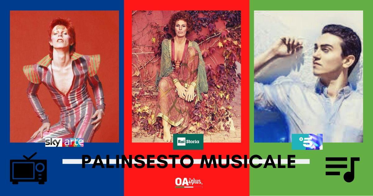 Rubrica, PALINSESTO MUSICALE. Ornella Vanoni, Daniele Gatti, Pink Floyd, David Bowie, Michele Bravi