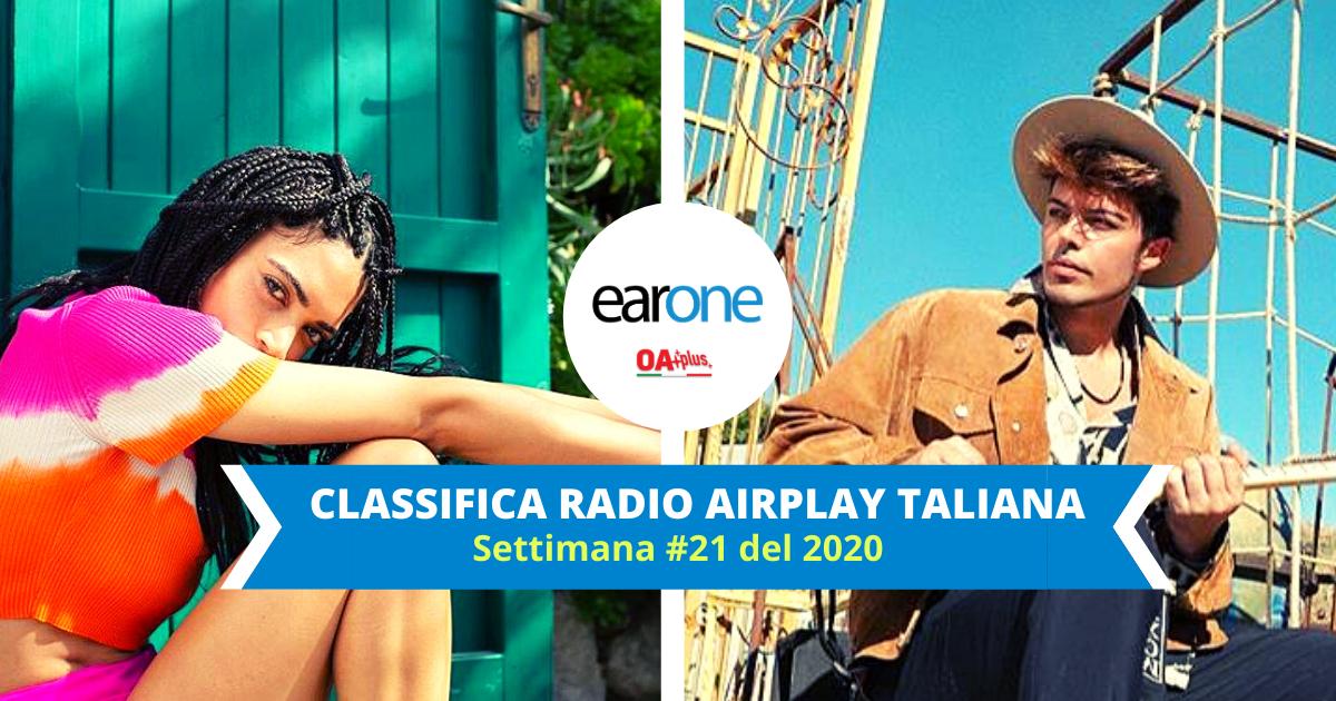 EarOne Classifica Radio Airplay Italiana, settimana 21 del 2020: Elodie e The Kolors, debutto in Top 10 con i nuovi singoli