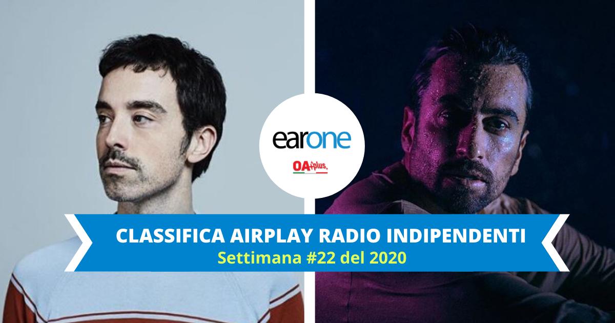EarOne Classifica Airplay Radio Indipendenti, settimana 22 del 2020: grande esordio per Diodato e Dotan con i nuovi singoli
