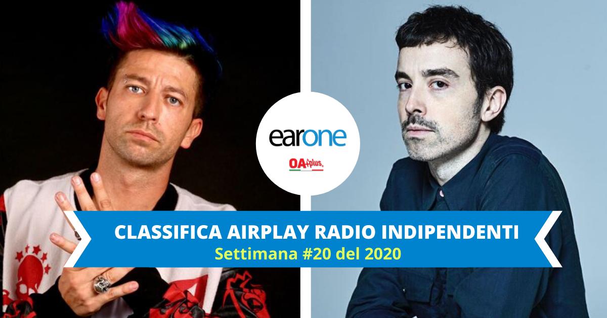 """EarOne Classifica Airplay Radio Indipendenti, settimana #20 del 2020: Danti sale sul podio. Diodato stabile con """"Fai rumore"""""""