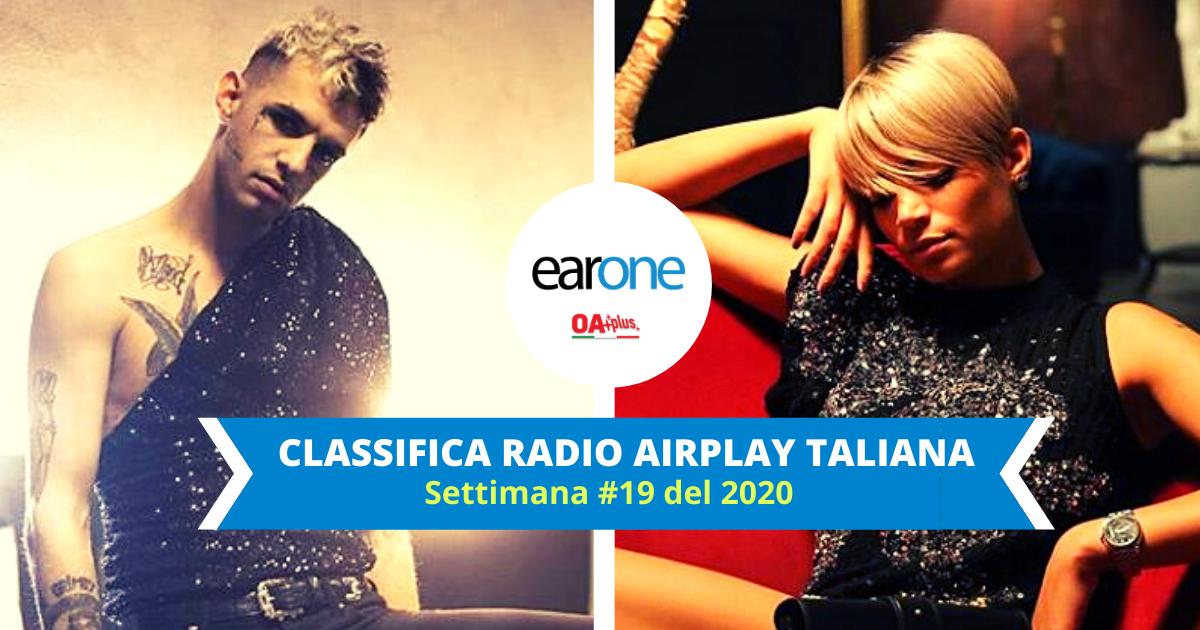 EarOne Classifica Radio Airplay Italiana, settimana #19 del 2020 : Achille Lauro conquista la vetta, Elodie esce dalla Top 10