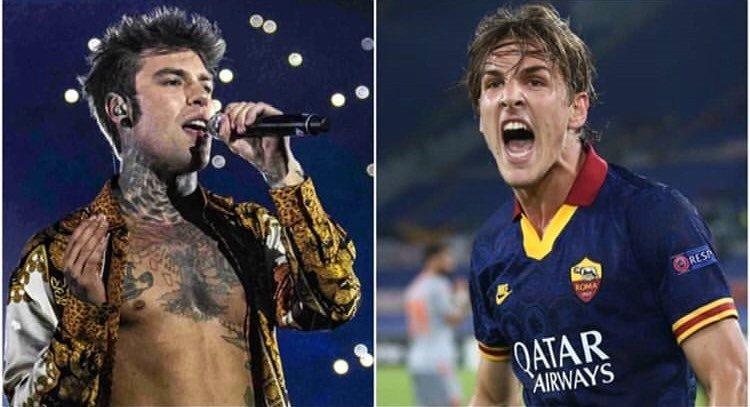 Zaniolo e Fedez, la strana coppia. Il cantante curerà il marchio del calciatore per due anni