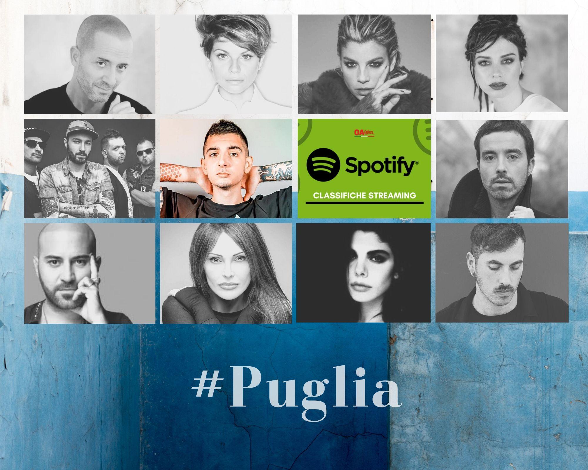 Cantanti della Puglia più ascoltati su Spotify: scontro Boomdabash-MadMan. La Municipàl insegue Mietta e batte Dolcenera