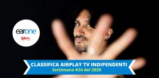 Fabrizio moro in salita nella classifica earone airplay tv indipendneti