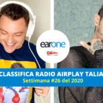 Tiziano ferro Jovanotti Achille Lauro - earone classifica airplay radio italiana