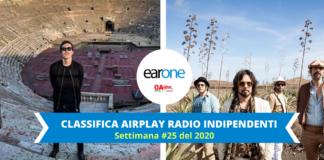 classifica radio indipendneti: le vibrazioni in top 10, sale Diodato