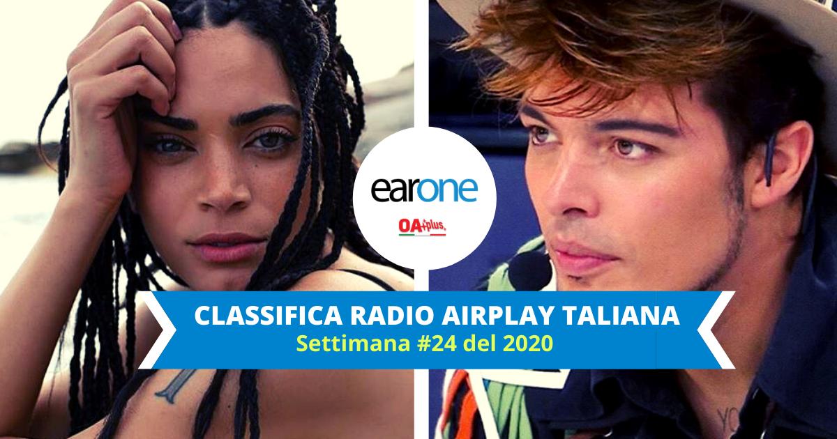"""EarOne Classifica Airplay Radio Italiana, settimana 24 del 2020: """"Guaranà"""" di Elodie a un passo dalla 1. i The Kolors guadagnano il podio"""