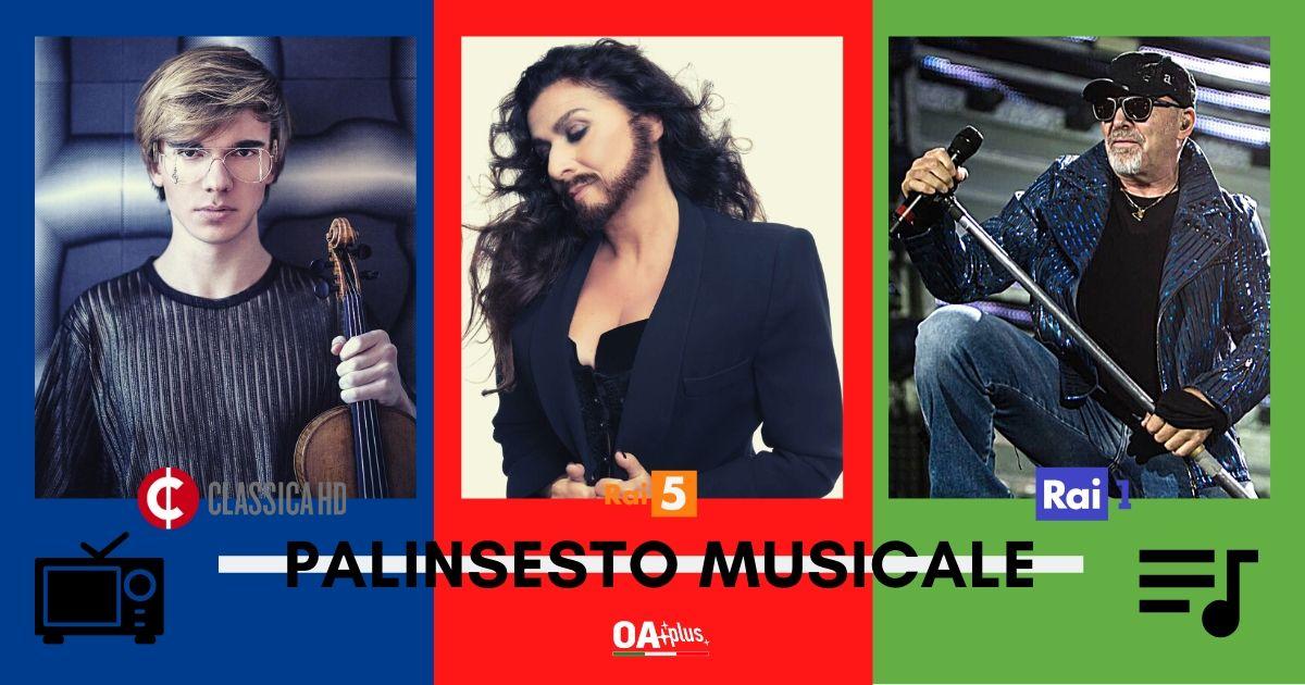 Rubrica, PALINSESTO MUSICALE. Vasco Rossi, Cecilia Bartoli, Yury Revich, Franco D'Andrea, Trio Bobo
