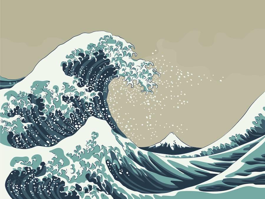 Katsushika Hokusai, le opere dell'artista raccolte nei nuovi passaporti giapponesi