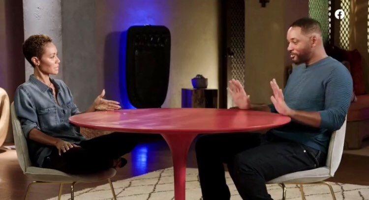 Will Smith tradito dalla moglie Jada Pinkett. Lei lo confessa all'attore durante un talkshow