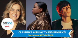 earone classifica tv indipendenti: zie wees, irene grandi, bugo feat. morgan