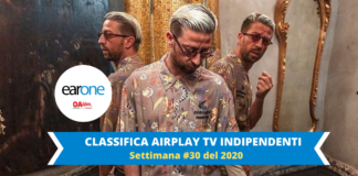 DANTI VOLA AL PRIMO POSTO DELLA CLASSIFICA AIRPLAY TV INDIPENDENTI EARONE
