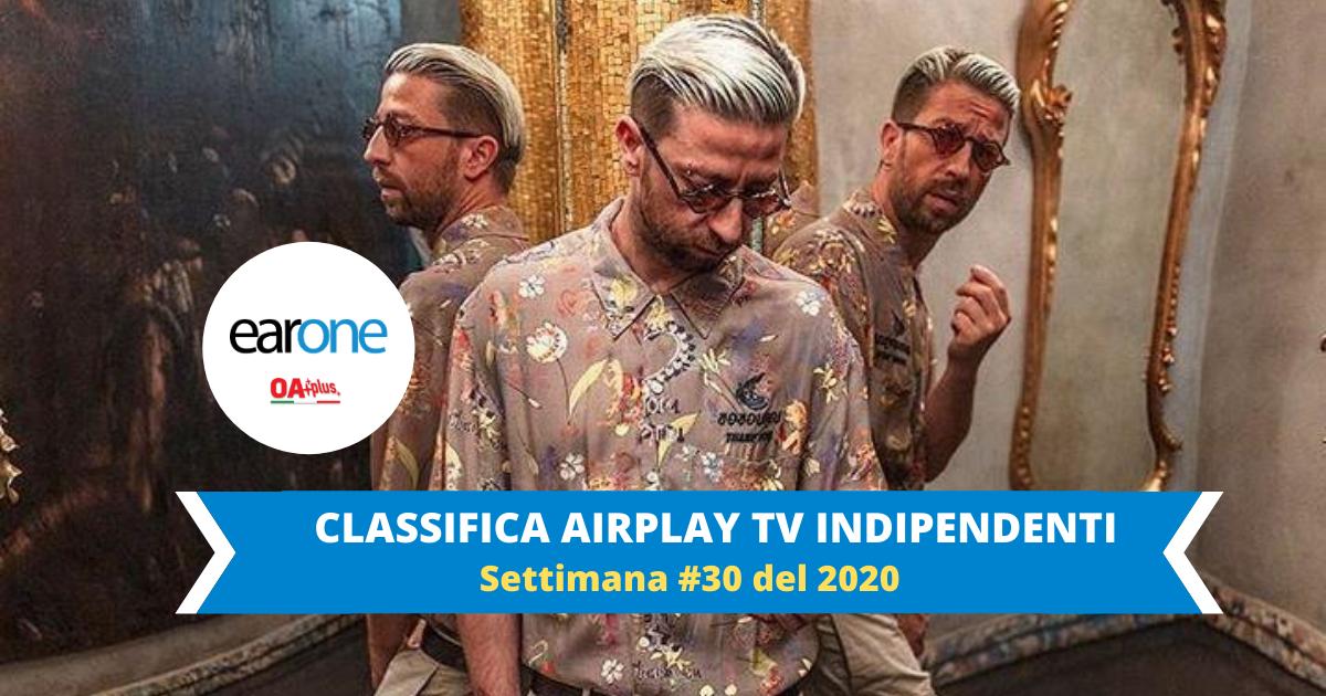 Earone Classifica Airplay TV Indipendenti, settimana 30 del 2020: Danti con Raf e Fabio Rovazzi vola alla #1