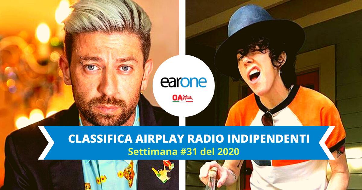 EarOne Classifica Airplay Radio Indipendenti, settimana 31 del 2020: Danti conquista la vetta e in Top 10 arriva LP