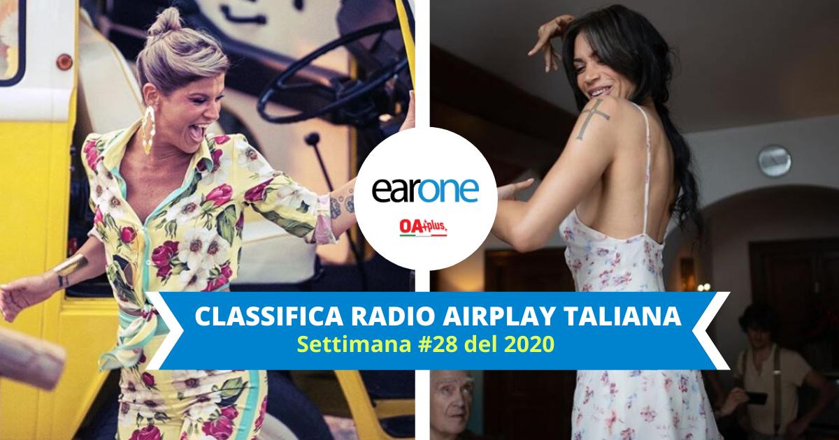 "EarOne Classifica Airplay Radio Italiana, settimana 28 del 2020: ""Karaoke"" supera ""Mediterranea"". ""Ciclone"" entra in Top 10"