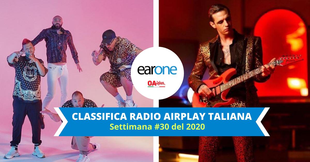 """EarOne Classifica Airplay Radio Italiana, settimana 30 del 2020: """"Karaoke"""" insuperabile, Achille Lauro con """"Bam Bam Twist"""" si avvicina"""