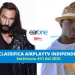 """Earone Classifica Airplay TV Indipendenti, settimana 31 del 2020: Bob Sinclar & Omi volano alla #1. New Entry LP con """"The one that you love"""""""