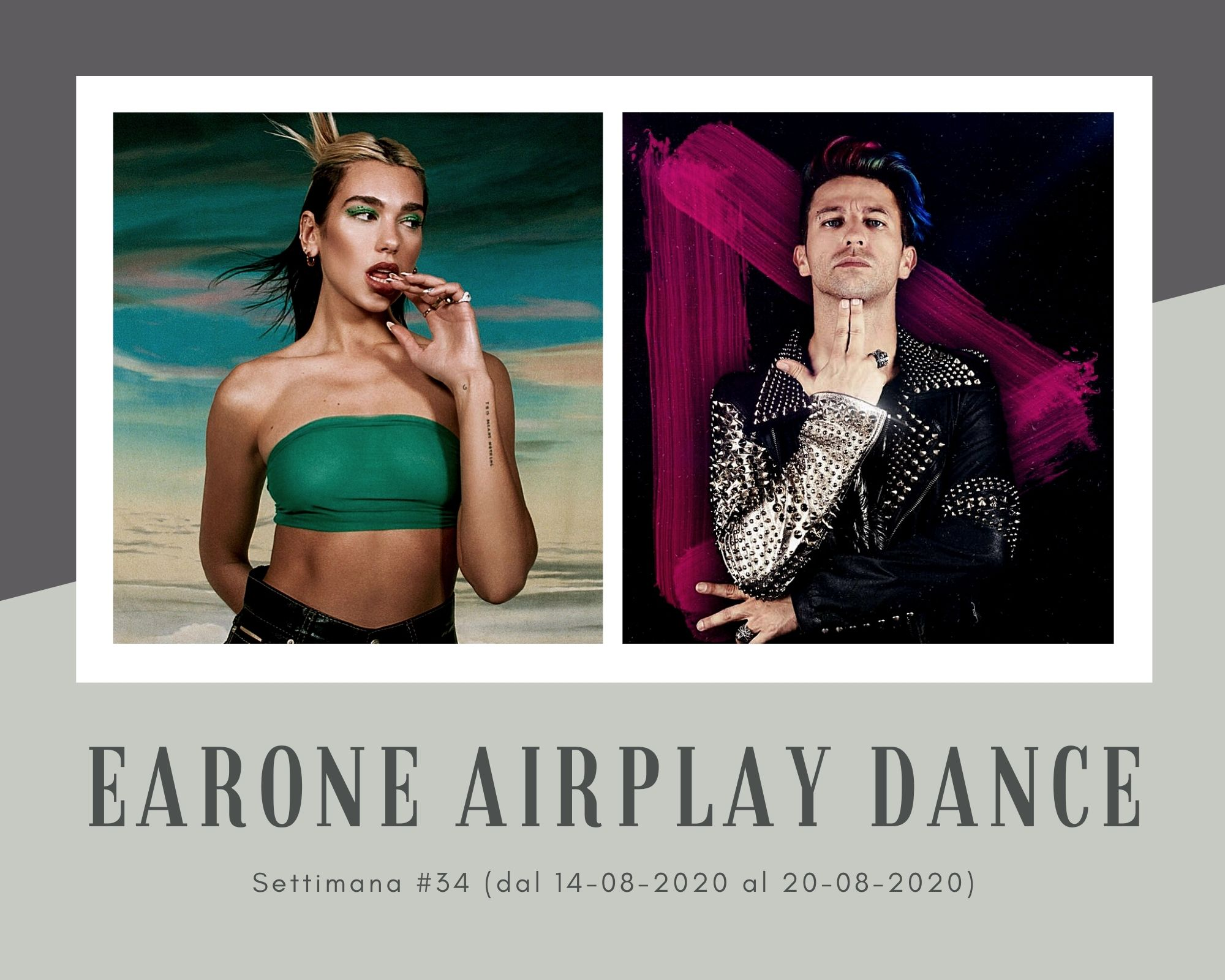 Classifica Radio EarOne Airplay Dance, week 34: Dua Lipa, Madonna e Missy Elliott sono la risposta al trio tricolore Danti, Raf e Fabio Rovazzi