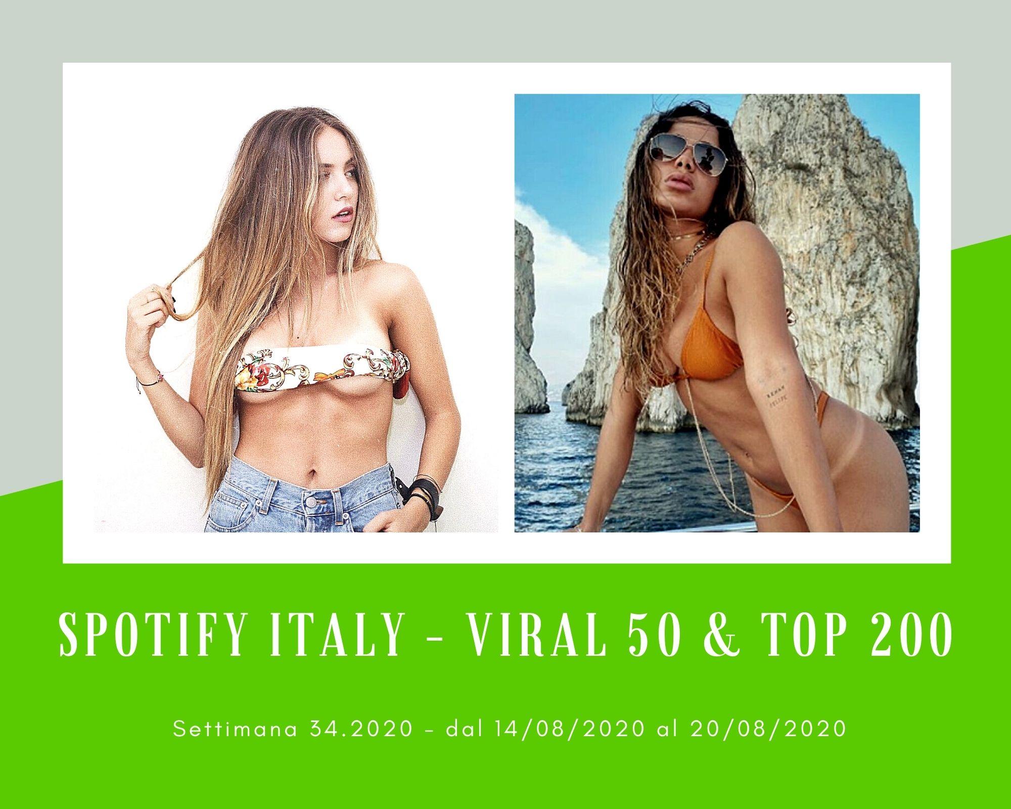 Classifica Spotify, week 34: Italiani pazzi per le straniere Ana Mena e Anitta. Claudio Dodoi spopola, Emma Muscat sale