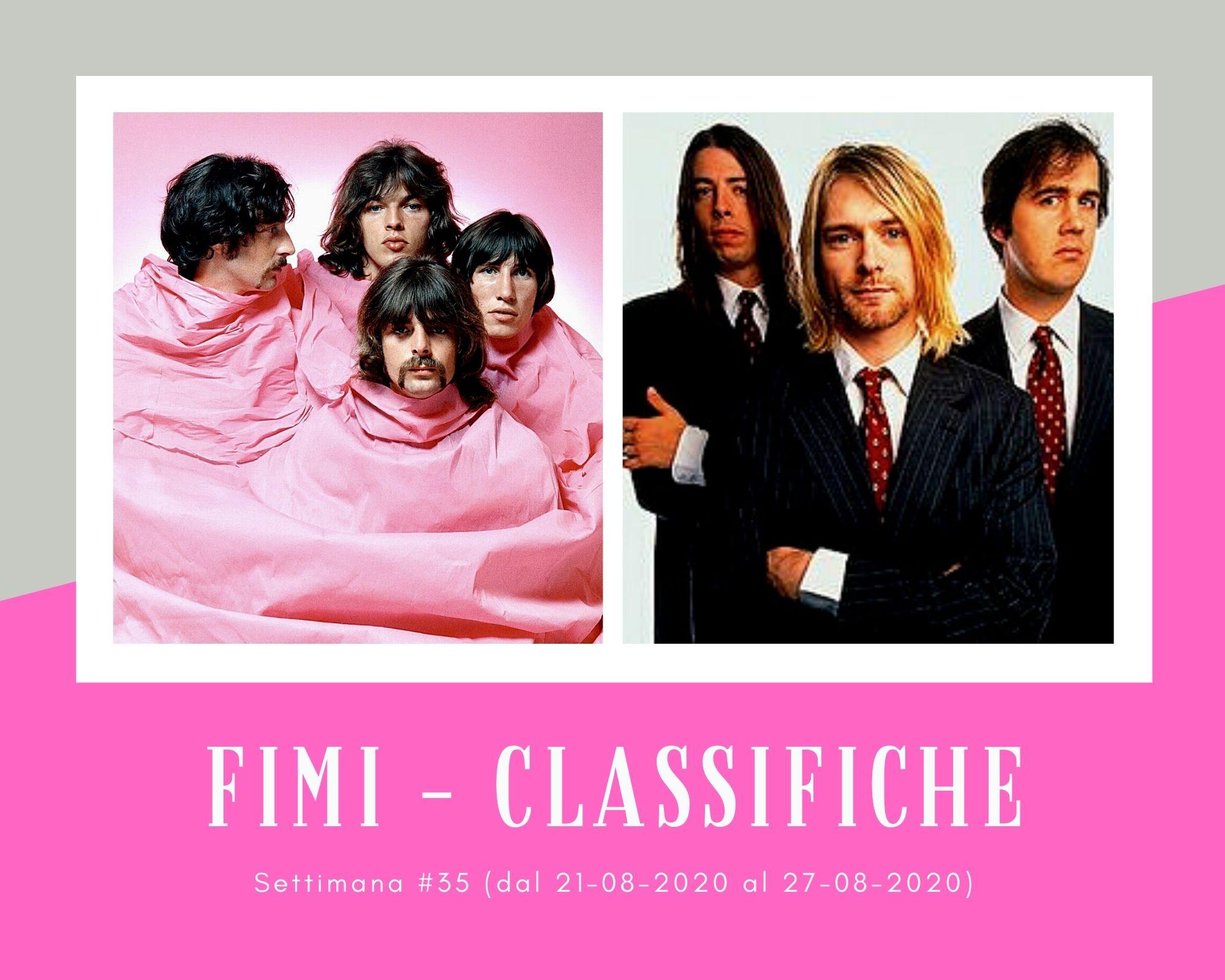 Classifiche FIMI, week 35: Il rock dei Pink Floyd e Nirvana suona in vinile. Tormentoni e rapper acquistati in digitale
